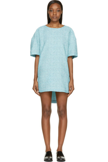 Viktor & Rolf - Mint Tweed Jacquard Short Sleeve Dress