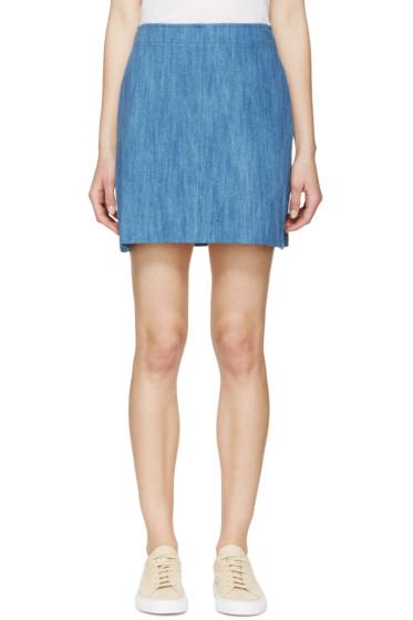 A.P.C. - Indigo Denim A-Line Day Skirt