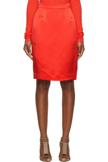 Lanvin - Red Pencil Skirt