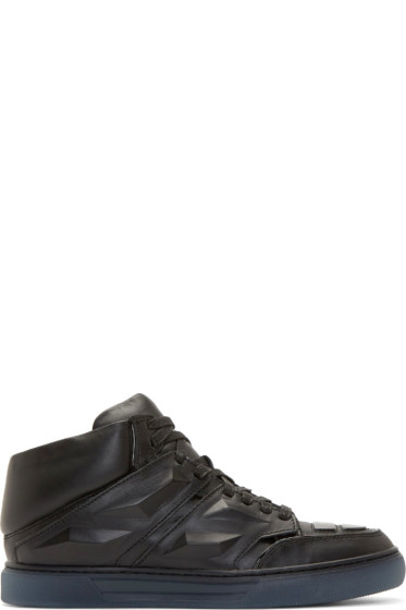 Alejandro Ingelmo - Black Leather Exotron Sneakers