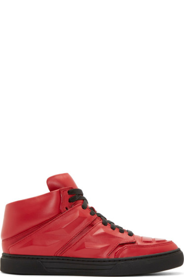 Alejandro Ingelmo - Red Leather Exotron Sneakers