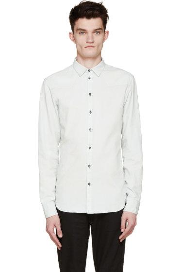 Pierre Balmain - Mint Chambray Button-Up Shirt