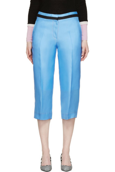 Roksanda - Sky Blue Silk Claude Trousers