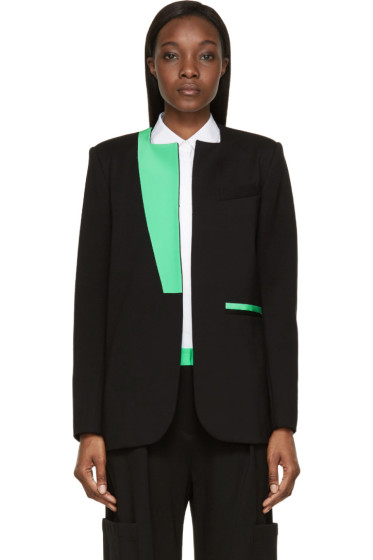 Roksanda - Black & Green Colorblock Monfort Jacket