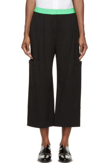 Roksanda - Black & Green Colorblock Monfort Trousers