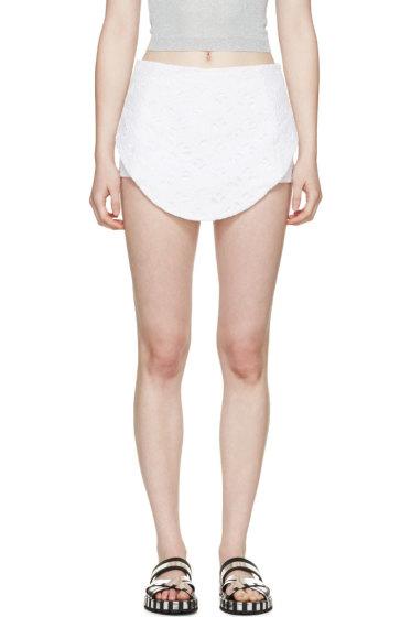 Kenzo - White Eyelet Logo Flying Shorts