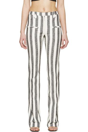 Altuzarra - Black & Ivory Striped Trousers