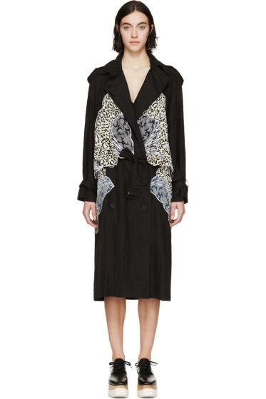 Stella McCartney - Black Silk Drape Trench Coat