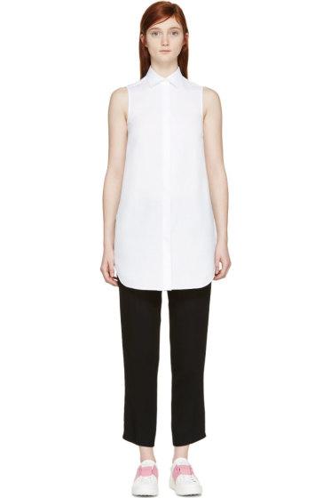 Valentino - White Sheer Sleeveless Tunic