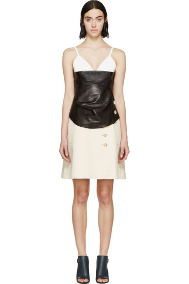 J.W. Anderson - Black & Cream Layered Dress