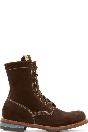 Visvim - Brown Suede Brigadier H-Folk Boots