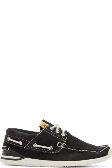 Visvim - Black Suede Hockney Folk Deck Shoes