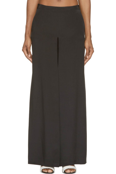 Costume National - Black Silk Trapeze Trousers