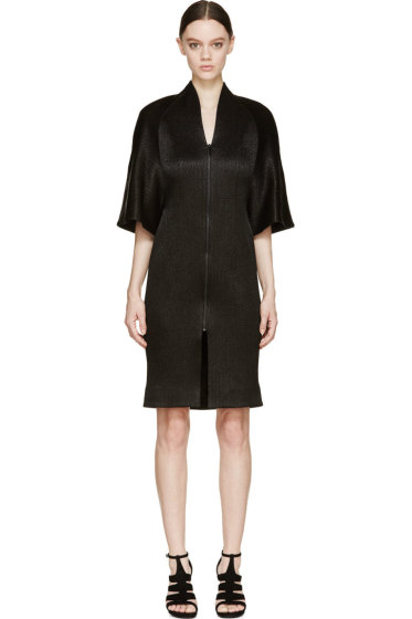 Iris van Herpen - Black Structured Halo Coat