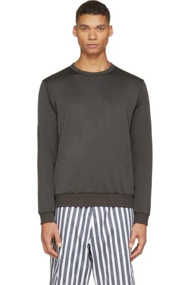 08Sircus - Olive Drab Technical Jersey Sweatshirt