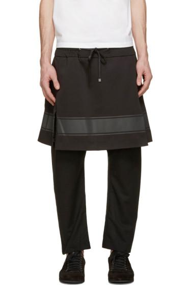 D.Gnak by Kang.D - Black Layered Lounge Pants