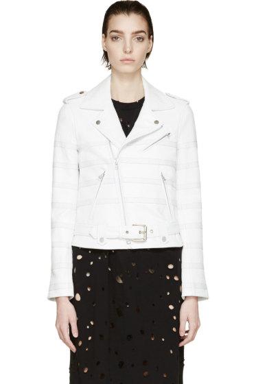 Each x Other - White Striped Biker Jacket