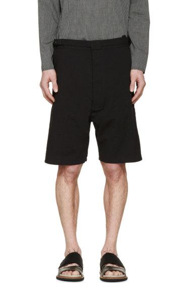 Siki Im - Black Seersucker Shorts