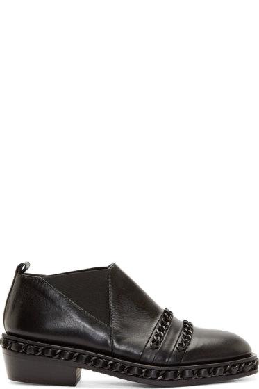 Christian Dada - Black Chain Trim Western Shoes