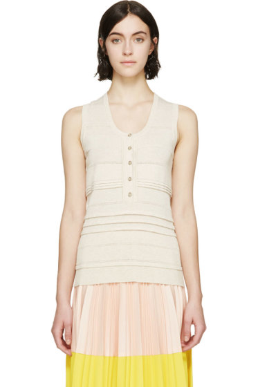 Burberry London - Beige Knit Underpinning Tank Top