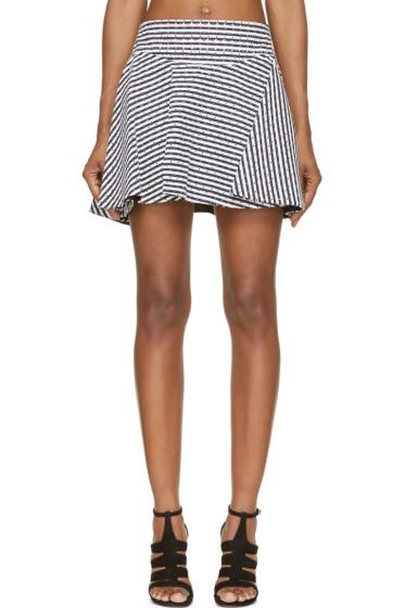 Jay Ahr - Navy & White Eyelet Flare Skirt