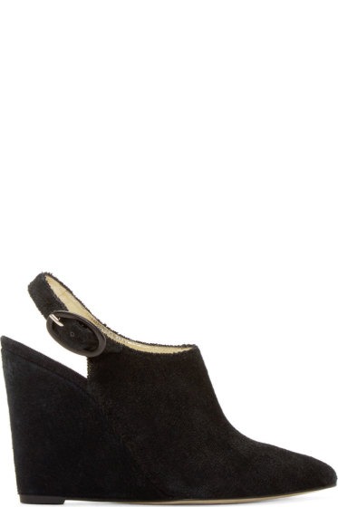 Amélie Pichard - Black Pointed Toe Nicolle Wedges
