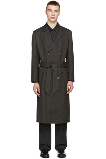 Marc Jacobs - Black & Grey Herringbone Coat