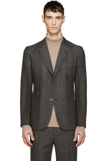 Marc Jacobs - Grey Wool Prince of Wales Blazer