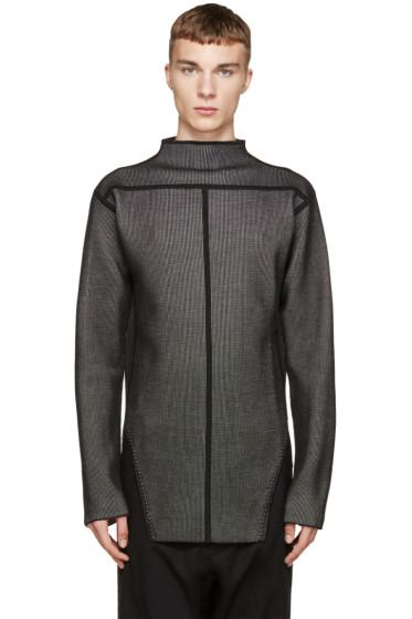Rick Owens - Black Jacquard High-Def Faun Sweater