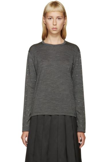 Junya Watanabe - Grey Studded T-Shirt