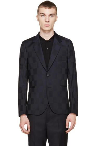 Paul Smith - Black & Navy Check Blazer