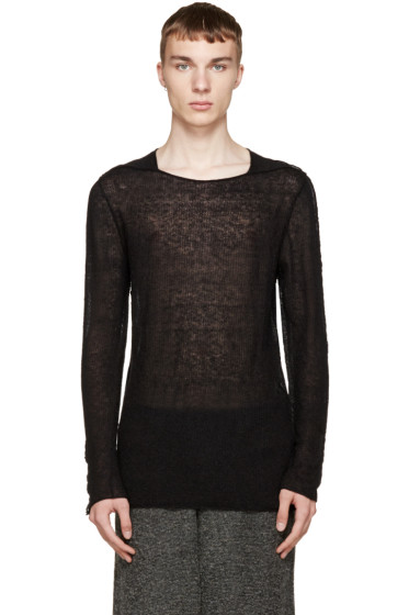 Damir Doma - Black Mohair Kasti Sweater