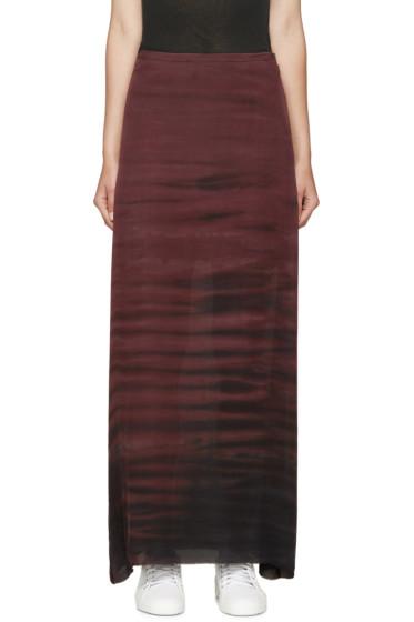 Raquel Allegra - Plum Sunset Silk Skirt