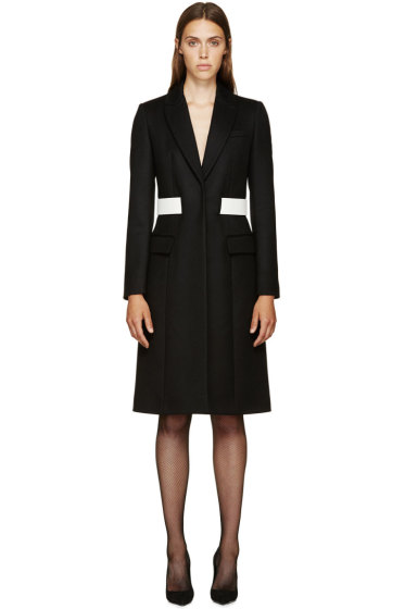 Givenchy - Black Wool Belted Coat
