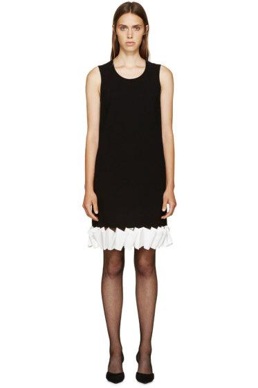 Givenchy -  Black & White Ruffle Crepe Dress