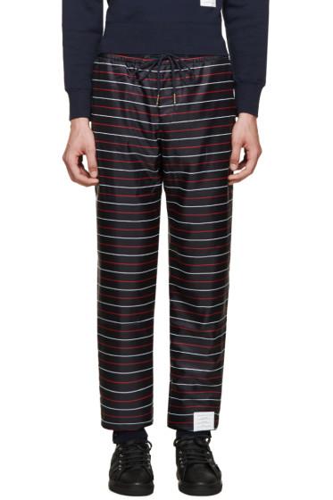 Thom Browne - Navy Striped Lounge Pants