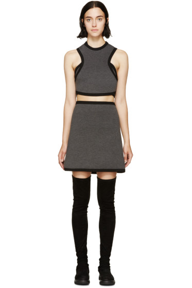 Denis Gagnon - Grey Mélange Air Marni Cutout Dress