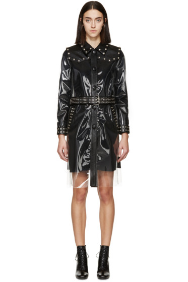 Saint Laurent - Transparent & Black Rain Coat