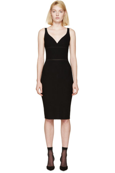 Nina Ricci - Black Ribbed Knit Dress