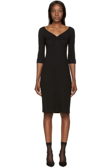 Nina Ricci - Black Wool Off-The-Shoulder Dress