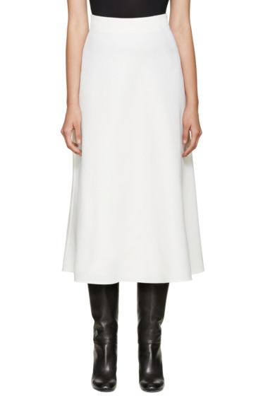 Valentino - Ivory Wool Skirt