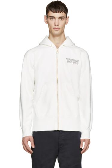 Visvim - White Jersey Vintage F.Z. Hoodie