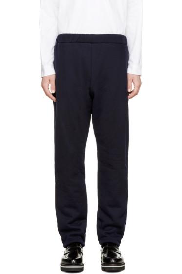 08Sircus - Navy Knit Boa Pants