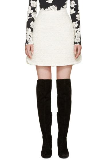 Giambattista Valli - Ivory Textured A-Line Skirt