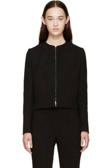 Giambattista Valli - Black Zip-Up Silk Jacket