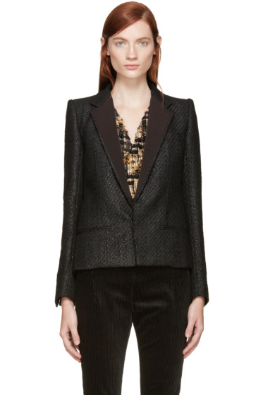 Haider Ackermann - Black Tweed Blazer