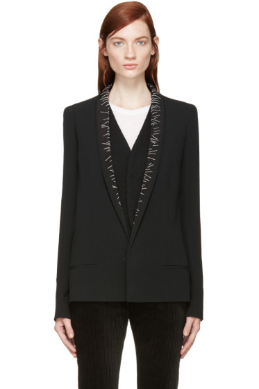 Haider Ackermann - Black Stitched Lapel Blazer