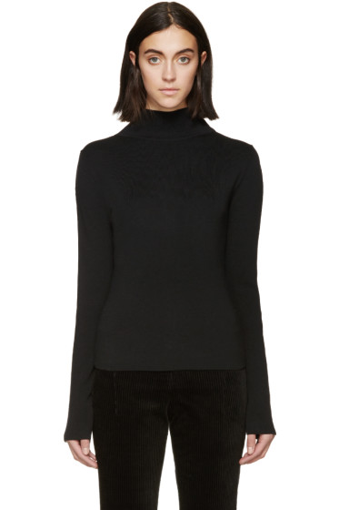 Haider Ackermann - Black Stitch Sleeve Turtleneck