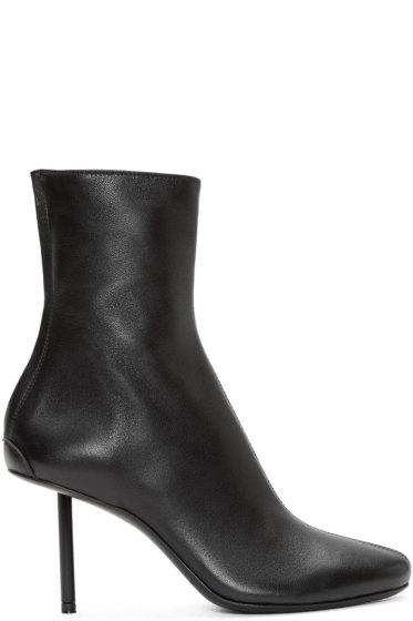 Haider Ackermann - Black Leather Stiletto Bronson Boots