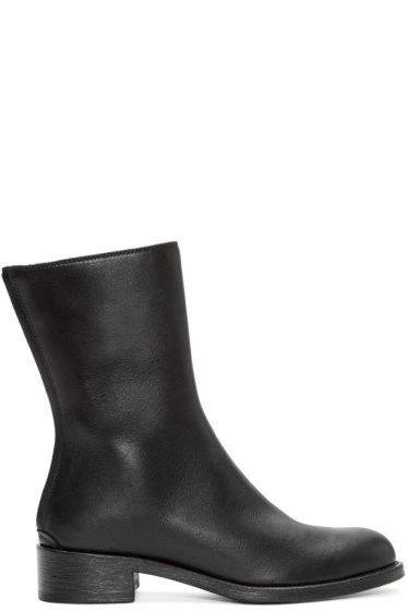 Haider Ackermann - Black Leather Mid-Calf Boots
